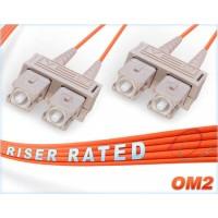 1 Meter OM2 Multi Mode Dual-125 SC to SC Orange Fiber Patch Cord