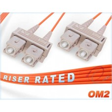 1 Meter OM2 Multi Mode Dual-125 SC to SC Orange Fiber Patch Cord